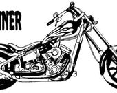 Motorcycle decal-Chopper sticker-Personalized decal-Motorcycle sticker-Chopper decal-22 X 40 inches