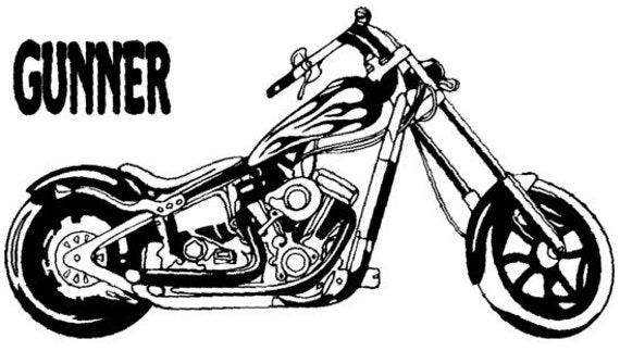 Motorcycle decal chopper sticker personalized decal motorcycle sticker chopper decal 22 x 40 inches