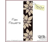 Peyote Bracelet Pattern: Flax Flowers - INSTANT DOWNLOAD pdf - New Discount codes