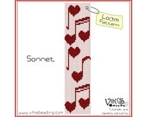 Loom Bead Pattern - Sonnet -  INSTANT DOWNLOAD pdf -Discount codes are available
