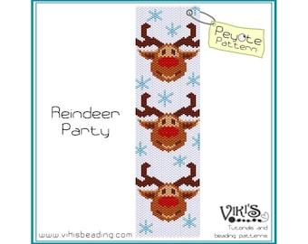Peyote Pattern bracelet: Reindeer Party - INSTANT DOWNLOAD PDF - buy more, save more