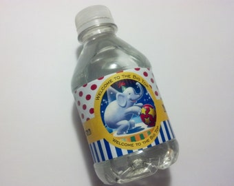 20 Circus/Carnival Theme Water Bottle Wrappers