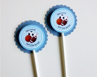 30 Sports Theme Cupcake Toppers