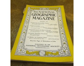 August 1950 Issue - National Geographic Magazine - Vintage Periodical
