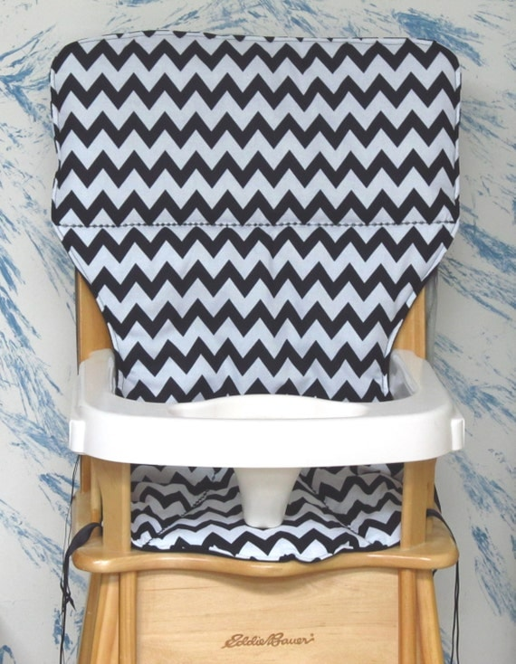 Eddie Bauer Jenny Lind Replacement High Chair Cover Black And