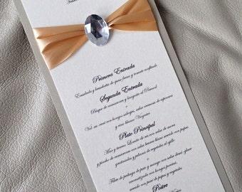 Elegant Menu, Dinner menu, Gold Menu, RIbbon menu, Ivory menu, Gem menu, Glitz menu