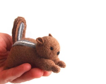 toy chipmunk, waldorf toy, woodland animal,  forest creature, eco friendly stuffie, stuffed animal, children's toy, stuffed toy,