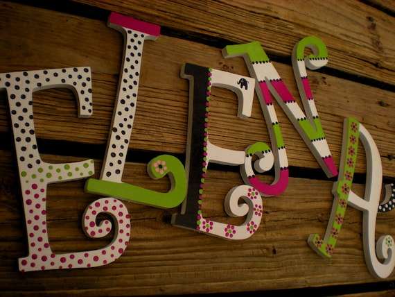 Girl Name Letters - Baby Girl Name - Nursery Letters - Baby Shower Gift