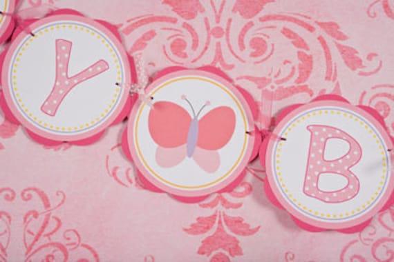 Butterfly Birthday Banner: HAPPY BIRTHDAY, Girl Birthday Party Butterfly Theme Decorations - Butterfly Garden Party