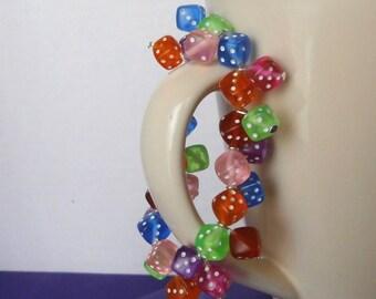 Fun & Colorful Dice Bracelet