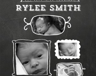 Birth Announcement - Chalk Board