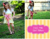 INSTANT Download SIG Millie Skirt Pattern eBook - Toddler size 12 month to 5T
