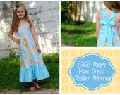 INSTANT Download PDF SIG Poppy Maxi Dress - Size 12 month to 5 Toddler, Girl
