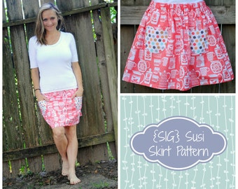 INSTANT Download PDF SIG Susi Skirt Pattern eBook for Adults - Size 0 to 14