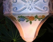 Charming Cottage 1940's Ceiling Light Globe Glass Fixture Cover