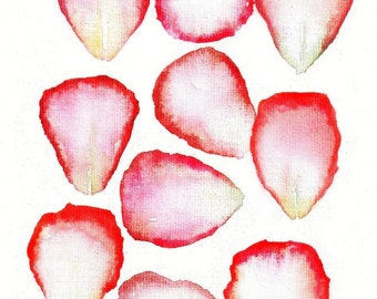 """Flowers """"For My Love, Rose Petals 2""""  Mother's Day,  print from original oil painting, Nature ART romantic, flower petals, roses, floral"""