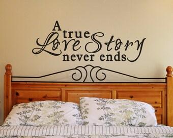 Vinyl Wall Lettering Love Story