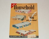 Vintage Household Magazine November 1957- 15 Cent Cover Price - Scrapbooking - Retro 1950s Ads