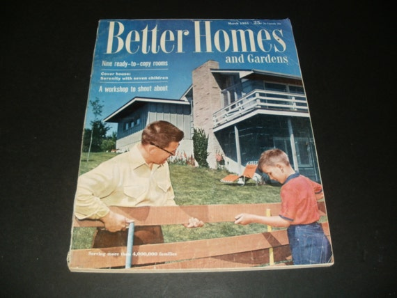 Vintage better homes and gardens magazine march by kennyscrafts for Better home and garden magazine