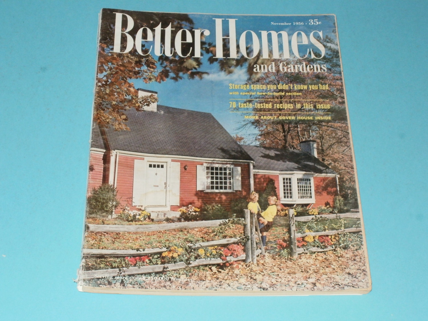 Vintage better homes and gardens magazine november 1956 for Better home and garden magazine
