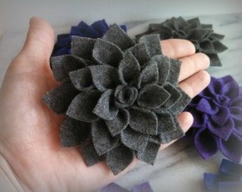 Felt Dahlia brooch pin - made to order - choose 1 color - Accessory