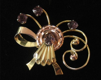Harry Iskin Gold Filled Pendant/Brooch, 1940's