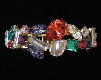 1980's Rhinestone Clamper Bracelet