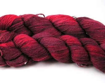 Suri Alpaca and Merino Laceweight Yarn - Shades of Red