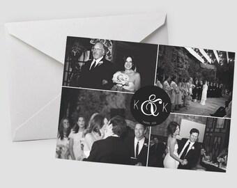 Wedding Thank YOU Cards: Monogram