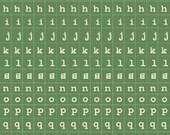 Green Alphabet - Cosmo Cricket - Tiny Type