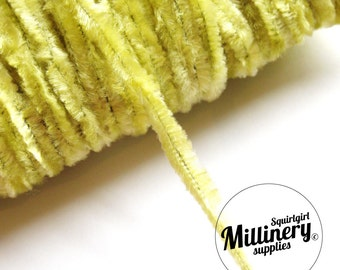 Vintage 1960's-80's Light Yellow Chenille Wire (for making your own veiling dots) 1 Metre
