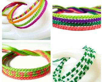 Four Custom Friendship Bracelets - Set of Four Bracelets (You Choose Colors)