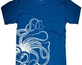 Octopus mens T-shirt --- Kraken -- sizes sm med lg xl xxl skip n whistle