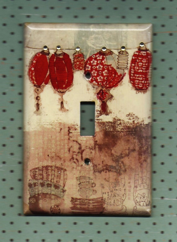 Red Lamps Switchplate cover
