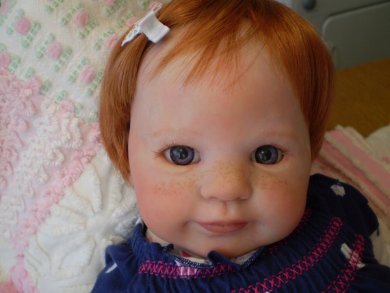 Pretty Reborn Doll with Red Hair and Freckles