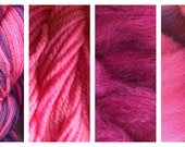 Hand Dyed Samples of Merino Wool DK Sport Weight Yarn in Hard Candy