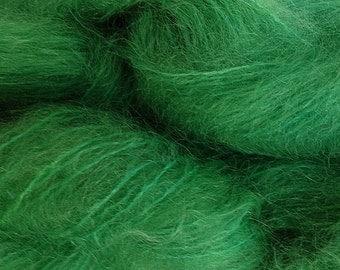 Mohair Yarn in Daddy Green Fingering Weight