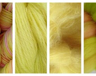 Hand Dyed Samples of Merino Wool DK Sport Weight Yarn in Mango Tango