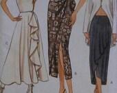 Ruffled Skirt Sewing Pattern UNCUT Vogue 9013 Sizes 12-16