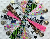 3 Pacifier Clips Soothie Paci Binky Clip Holders