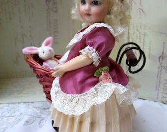 "PDF Pattern for 8"" Petite Doll, French Wardrobe . 2 Dresses, Bonnet, Undies"