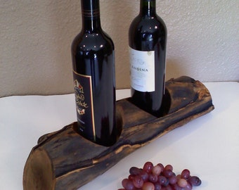 Wine and Glass Rack in elk rub aspen