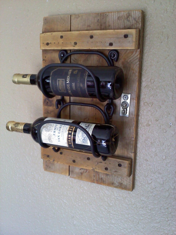 Hanging Wooden Wine Rack In Vintage Wood By Aspenbottleholders