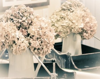 Hydrangeas Romantic Dreamy Nature Art Shabby Chic Decor- Fine Art Photography by Magaly Burton 8x12