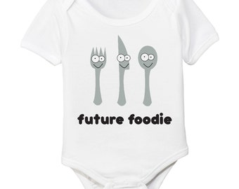 Organic Future Foodie Baby Bodysuit - Food Lover Chef Cook Baby Shower Gift
