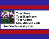 30 PERSONALIZED Return Address Labels. 1 Sheet of White 1-Inch Labels. Color Picture. 5079