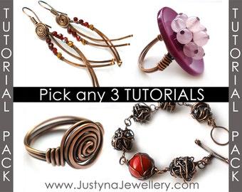 Jewelry Tutorial Sale, Free Jewelry Tutorial, Ring Tutorial, Earrings Tutorial, Wirewrapping Jewelry Tutorial, Free Wire Jewelry Pattern