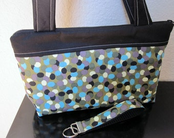 SALE - Cool Waterfall Zipper Bag, Nook, Kindle, Mini-Ipad, Case, Cover including Matching Key Fob