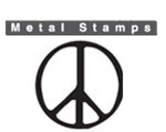 PEACE SIGN Metal STAMP 3mm 1/8 inch Square Shank Steel Punch for Hand Stamped Jewellery Making Peace Symbol