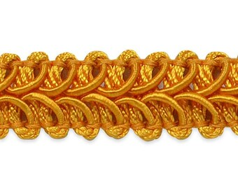 "E1901 Yellow Gold Gimp Sewing Upholstery Trim 1/2"" (E1901-YLG)"